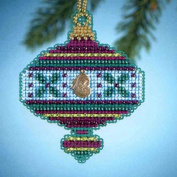 Mill Hill Jewels Christmas Ornament Counted Cross Stitch Kit w/ Glass Beads & Charm Holly MH164303