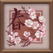 Spring Counted Cross Stitch Kit Riolis Oriental 812 Size 20cm x 20cm 16 Count