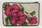 Cosmetic Purse - Hibiscus - Needlepoint Kit
