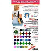 15 Yards Siser Glitter Heat Transfer Vinyl 50cm (Mix & Match your favourite colours) .