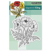Penny Black 40-311 Poppy Trio Sheet Cling Rubber Stamp, 10cm by 15cm