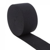 Cotowin 3.8cm Wide Black Knit Heavy Stretch High Elasticity Elastic Band 5 Yards