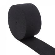 Cotowin 3.8cm Wide Black Knit Heavy Stretch High Elasticity Elastic Band 5 Yards