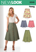 New Look Patterns UN6346A Misses' Easy Skirts, A