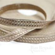 1.3cm Rose Gold Geometric Bullion Braid Trim