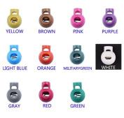 11pcs Colourful Ball Cord Locks Round Toggle Clip Stopper