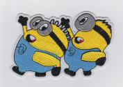 MINIONS FROM DESPICABLE ME - Iron on Patches/Sew On/Applique/Embroidered W4.20cm x H3""