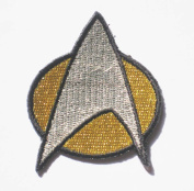 "STAR TREK NEXT GENERATION UNIFORM sew iron on Patch Badge Embroidery 5x6 cm 2""x2.5"" SK-01"
