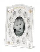 Dicksons Jesus Loves Me First Year Photo Frame, White