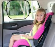 Best 2 Pack Auto Sunshades. SPF Sun Protection for Babies-Kids-Pets. Quality Car Sun Screens. Blocks Heat, Sunglare. Side Windows. Baby Shower Gift. Bonus! Extra Suction Cups & Storage Bag