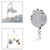 12 Melodies Song Baby Mobile Crib Bed Bell Electric Autorotation Music Box White