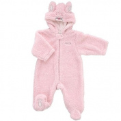Little Me Girl's Bunny Fuzzy Pram - Pink