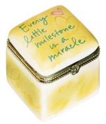 C.R. Gibson Precious Miracle Ceramic Trinket Keepsake Box
