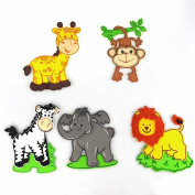 Safari Animals Foam Cutouts Decor, 5-pairs, Large