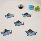Bathtub Stickers Shark Cute - Shower Decals Kids Babies Treads Non-slip Applique