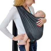 Vlokup Adjustable Baby Water Ring Sling Baby Carrier Infant Wrap One Size Grey
