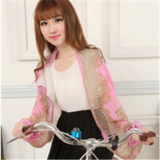 KAKA(TM) Summer Women's Sunscreen Anti-UV Chiffon Flower Printing Cardigan