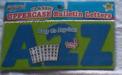 Classic Uppercase Bulleting Letters & Numbers - Blue - Approx 10cm Tall -