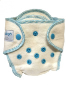 HappyEndingsTM Newborn Organic Cotton & Hemp Fitted Nappy