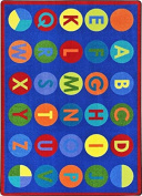 ALPHA-DOTS Kids Rugs Area Rug 1.5m X 2.1m