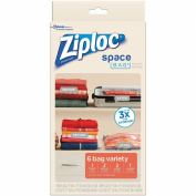 Ziploc Space Bag, Variety Pack, 6 Count (Flat Bag
