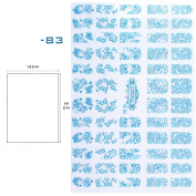 Perfect Summer Brand 60pcs 3D Nail Art Stickers Decals Top Quality Metallic Mixed Designs Nail Tips