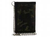 Mens Boys TriFold Slim CAMOUFLAGE Velcro Wallet with Chain & Clip Handy CAMO