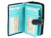 Visconti Large Multi Compartment Leather Purse / Wallet For Ladies -