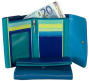 Mywalit 13cm Double Flap Purse Wallet Quality Leather with Mywalit silver Tone Pen Included 250 Gift Boxed