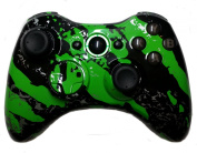 Xbox 360 Green Hydro Dipped / Modded Rapid Fire Controller / Sniper Quick Scope / Drop Shot / Quick Aim / Zombies Auto Aim / Mimic / Burst / For COD / Modern Warfare / Black Ops / Gears of War & More / Custom Buttons