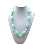 """Silli Me Jewels """"Date Night"""" - 31"""" Elegant Teething Chewable Necklace with Larger Oval Beads and 9mm Beads for Baby to Chew"""