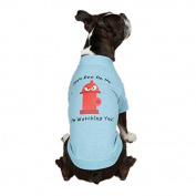 Casual Canine Hydrant Pet Tee Shirt - Blue