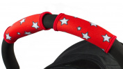 Choopie CityGrips Small Single Bar Grip Sleeve Covers for Stroller, Pram, and Buggy Handlebars - Red Star