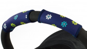 Choopie CityGrips Small Single Bar Grip Sleeve Covers for Stroller, Pram, and Buggy Handlebars - Blue Daisy