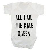 All hail the kale queen baby vest bodysuit babygrow