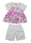 Baby Girl set 2-Part set with Shorts shirt Pink Red Sizes 68,74,80,86