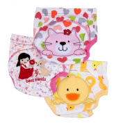Mom's Care 3 Pcs X Toddler Potty Training Pants (Kitty, Duck & Friends)- 18 Months