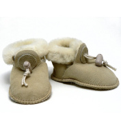 White Cloud - Infant Lambskin Slipper Booties - Small 3-6 Months
