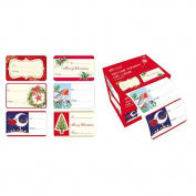 Veka Baby Products-Traditional Christmas Self Adhesive Gift Labels - pk150