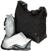 OiOi Hobo Nappy Bag - Black Diamond Quilt