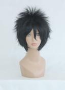 Ladieshair Cosplay Wig 35 cm Straight Black Naruto Uchiha Sasuke