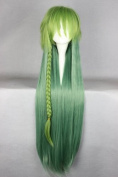 Wig, Green, 100 cm Long, for Amnesia UKYO Cosplay, Carnival, Halloween
