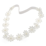 Ivory Daisy Chain Beaded Headband
