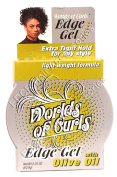 Worlds Of Curls Edge Gel With Olive Oil Extra Tight Hold For Any Style 63.8g