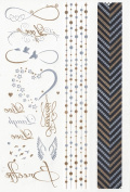 SIMPLYSHINEME Jewellery Metallic Tattoos - Live and Laugh