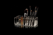 GLAMOURLIVING® brushtidy® makeup brush holder acrylic lucite storage case box kardashian clear