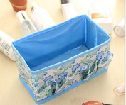 safeinu Folding Multifunction Make Up Cosmetic Storage Box Stuff Container Bag Case,blue