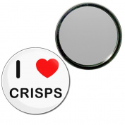 I Love Crisps - 77mm Round Compact Mirror