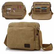 MeCool Men's Canvas Weekender Messenger Bag for Travel Crossbody Sports Over Shoulder Vintage Military Overnight Casual Cross Body Side Beach Pack Bag