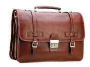 Katana cowhide leather satchel with 3 Gussets K Bold 31039